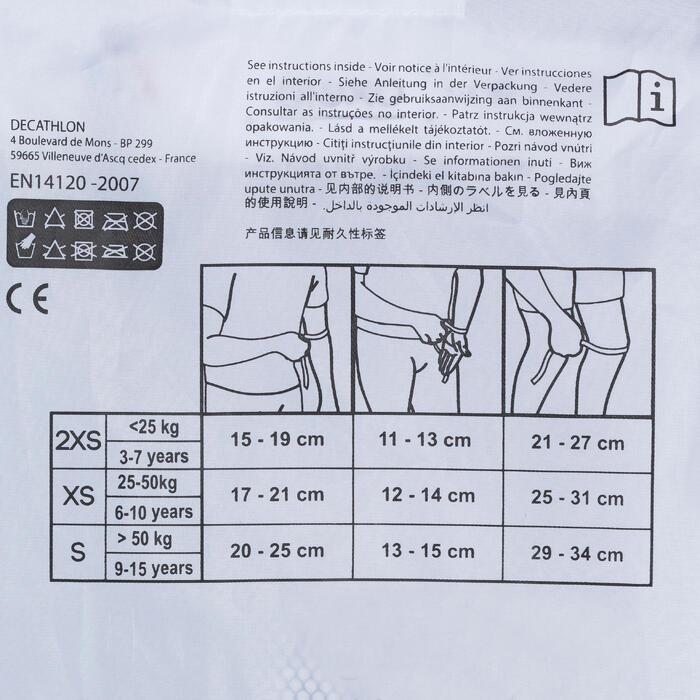 Set de 3 protecciones para roller skateboard y patinete júnior PLAY turquesa