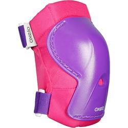 Set 3 protections roller skate trottinette PLAY rose violet