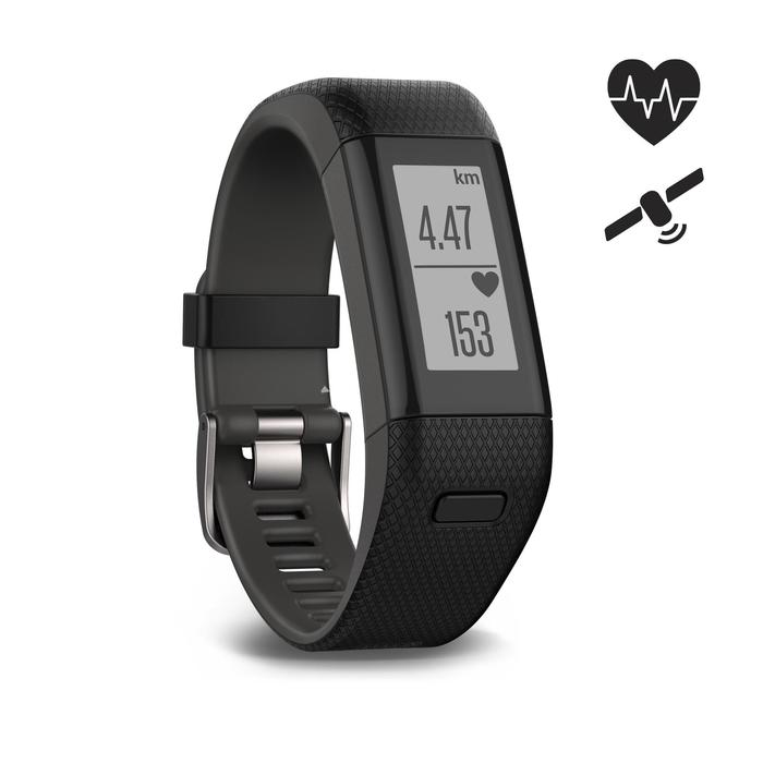 Bracelet d'activité Vivosmart HR+ cardio au poignet noir - 1026398