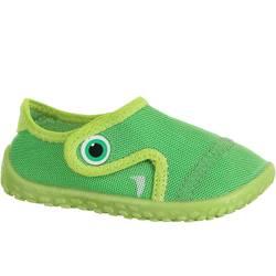 Escarpines Cangrejeras Zapatillas Acuáticas de Snorkel Subea 100 Bebé Verde