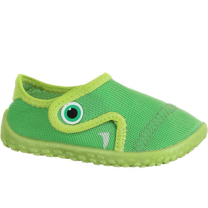 b2c26180e Escarpines Cangrejeras Zapatillas Acuáticas de Snorkel Subea 100 Bebé Verde