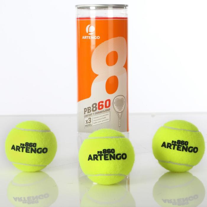 Balles de padel PB860 Jaune - 102669