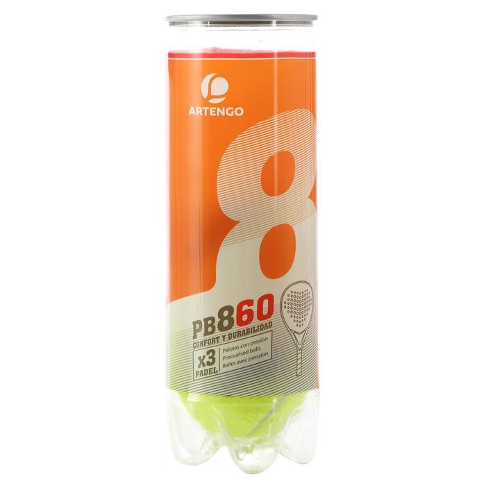 Balles de padel PB860 Jaune - 102670