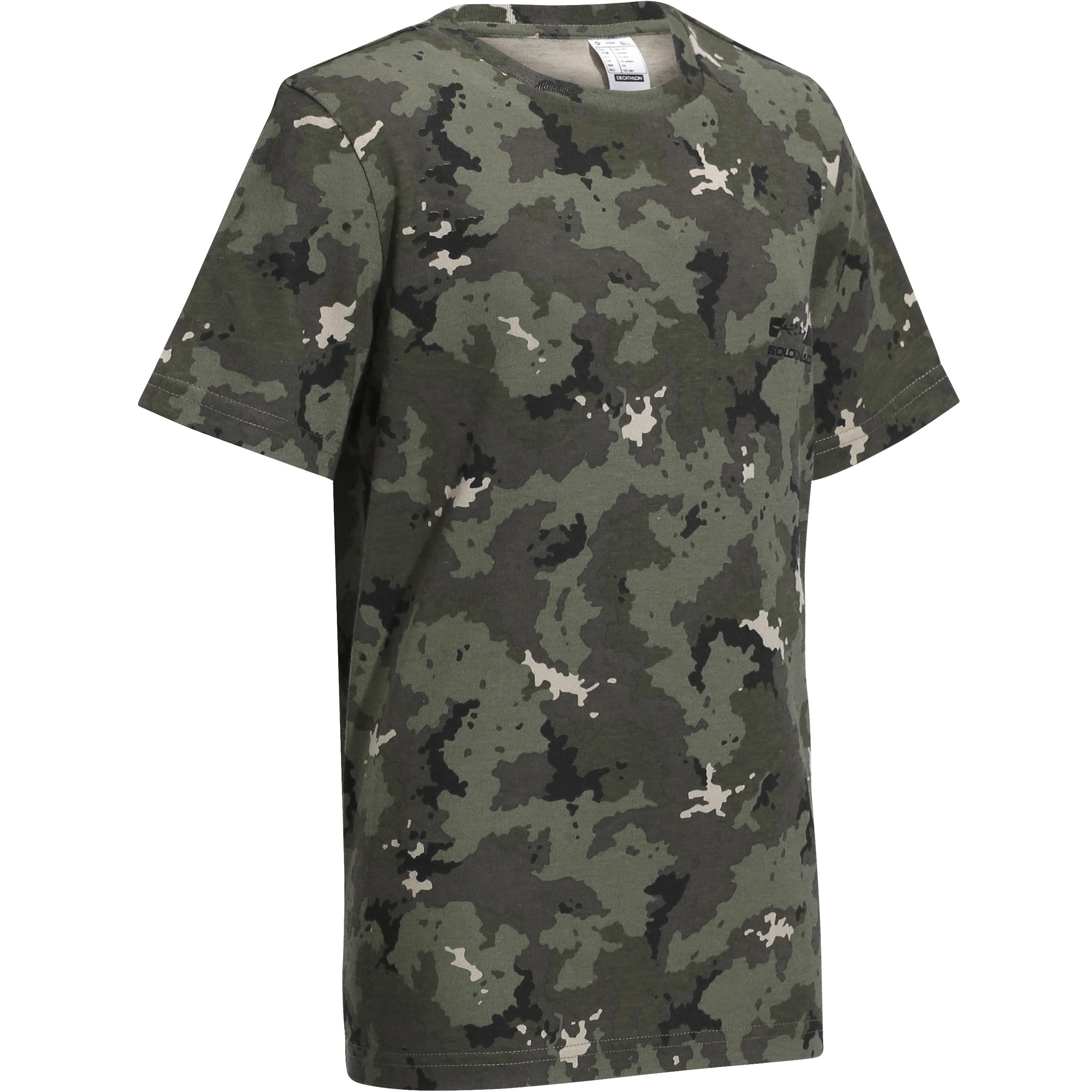 100 Junior Hunting T-Shirt - Island Camouflage