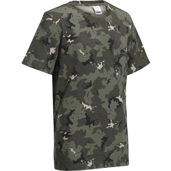 Kinder T-shirt Steppe 100 camouflage Island - 1026879