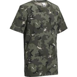 Camiseta Caza Solognac SG 100 Niños Camuflaje Island Verde