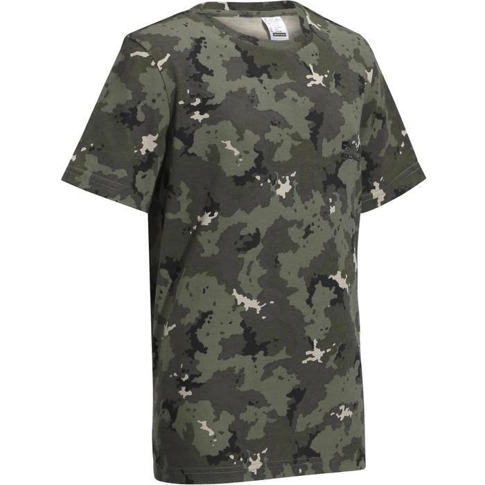 36f8d29ab4a860 Solognac Kinder T-shirt voor de jacht 100 camouflage Island ...
