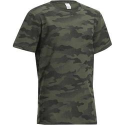 Camiseta Caza Solognac SG 100 Junior Camuflaje Verde