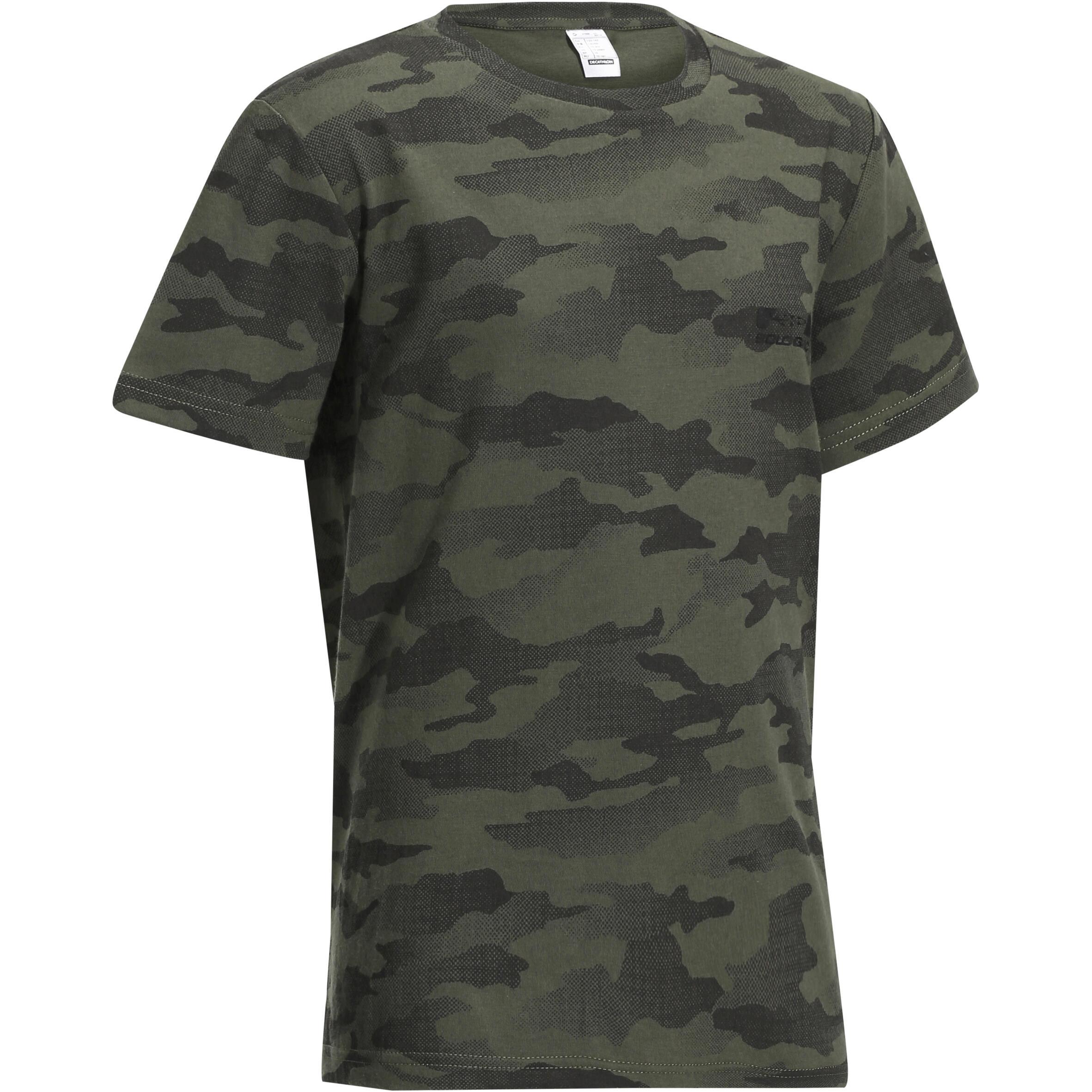Solognac Kinder T-shirt 100 voor de jacht camouflage Island kopen met voordeel