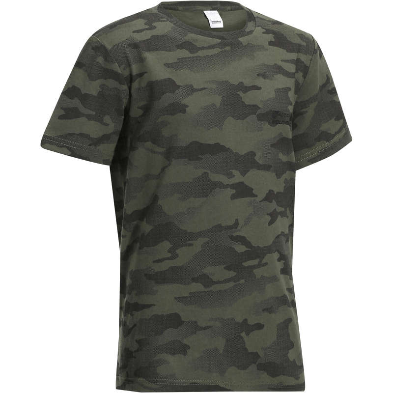 JUNIOR CLOTHING Shooting and Hunting - Steppe 100 Junior Hunting T-shirt - Camouflage SOLOGNAC - Hunting and Shooting Clothing
