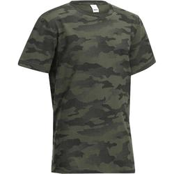 Kinder T-shirt 100 voor de jacht camouflage Island