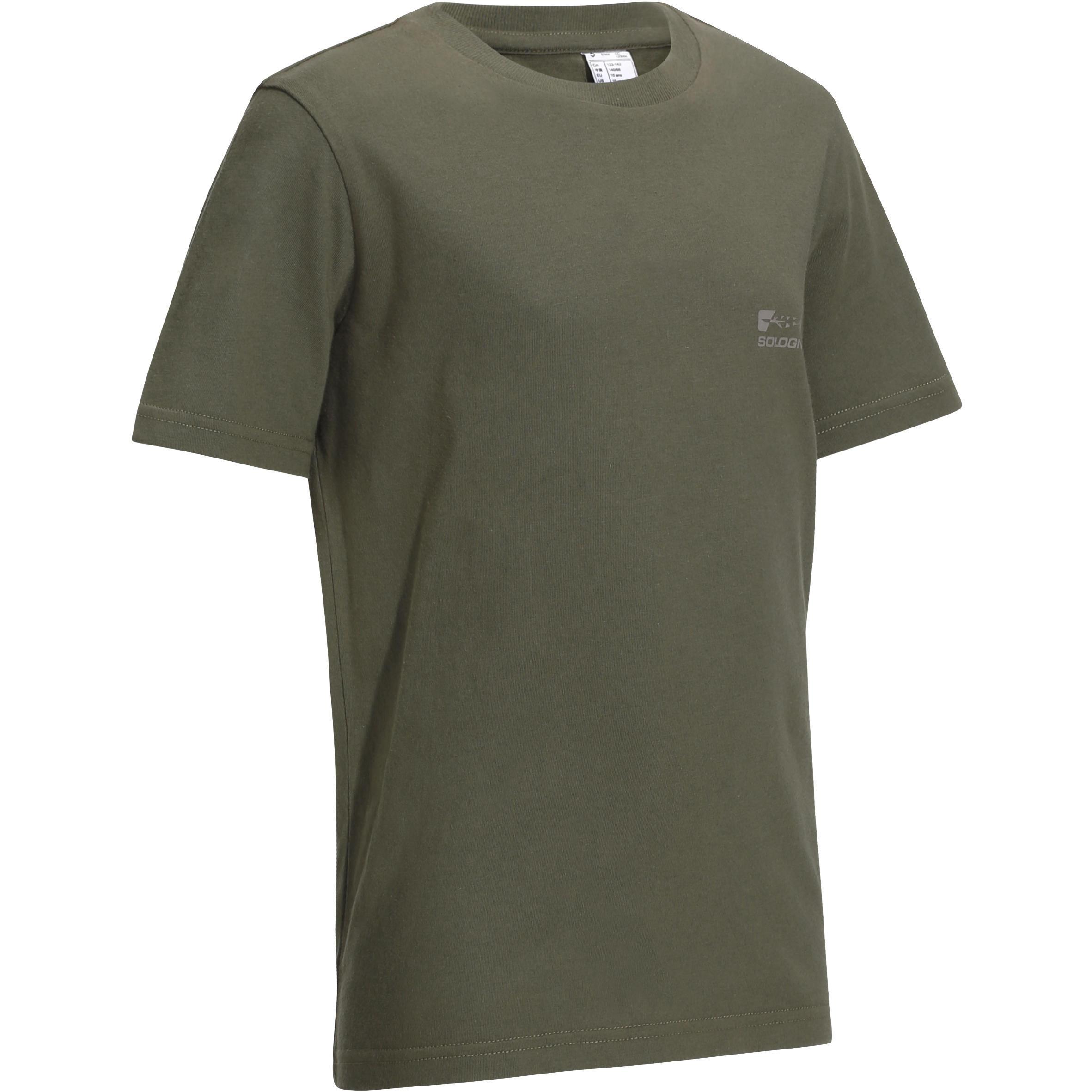 Solognac Kinder T-shirt voor de jacht 100 groen
