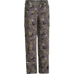 Pantalón de caza júnior camuflaje