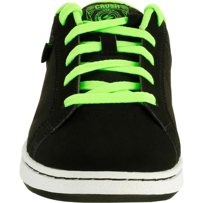 Chaussure de skate enfant CRUSH BEGINNER noire verte - 1026941