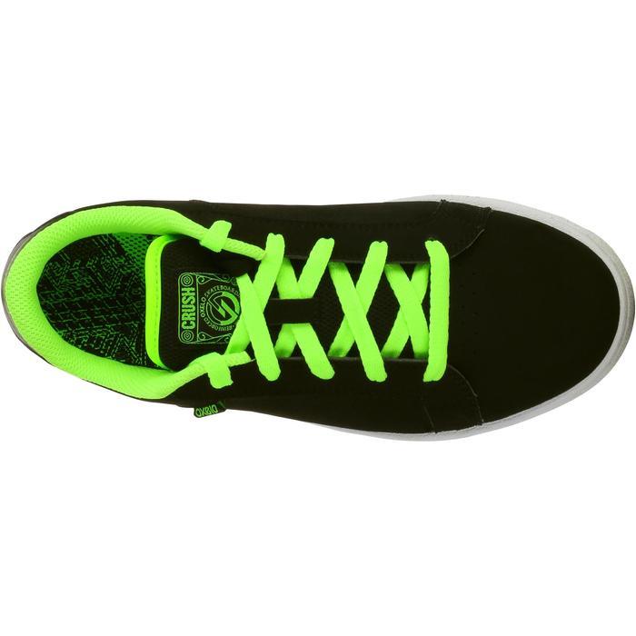 Chaussure de skate enfant CRUSH BEGINNER noire verte - 1026949