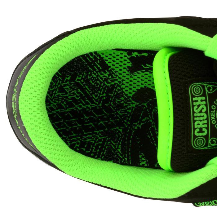 Chaussure de skate enfant CRUSH BEGINNER noire verte - 1026984