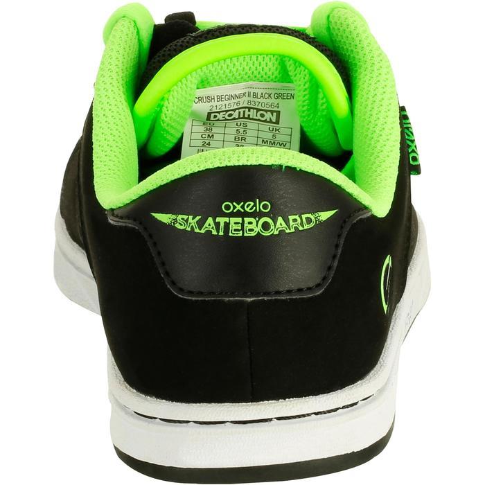 Chaussure de skate enfant CRUSH BEGINNER noire verte - 1026988