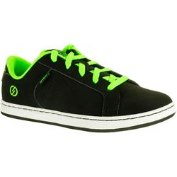 Crush Beginner Kids' Skateboarding Shoes - Black/Green