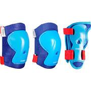 Kids' Set of Inline Skate Protectors Play - Blue
