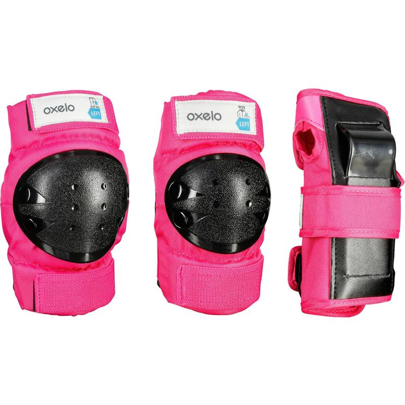 Kids' 2 x 3-Piece Skating Skateboard Scooter Protective Gear Basic - Pink