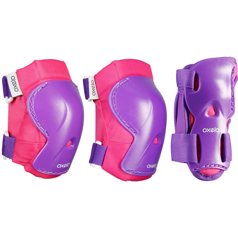 CHILD AND ADULT PADS Skateboarding and Longboarding - Play Protectors - Pink OXELO - Skateboarding and Longboarding