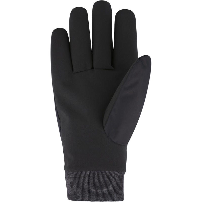 ADULT DOWNHILL SKIING GLOVES WARM FIT - BLACK