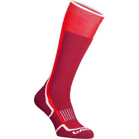 chaussettes de ski homme femme ski socks 300 rouge wedze. Black Bedroom Furniture Sets. Home Design Ideas
