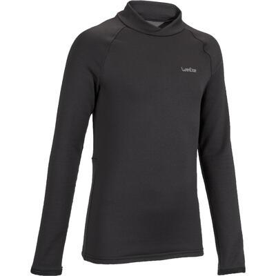 חולצה תרמית לסקי דגם Freshwarm לילדים - שחור
