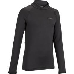 Camiseta Térmica Interior Nieve y Esquí Wed'ze Freshwarm Niños Negro