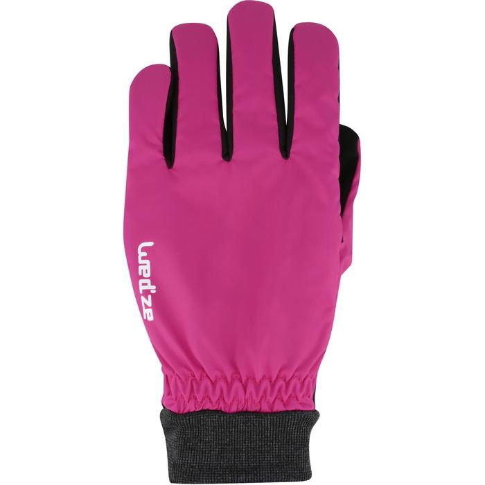 WARM FIT ADULT DOWNHILL SKIING GLOVES - PINK