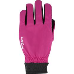 成人下坡滑雪手套WARM FIT - 粉紅色