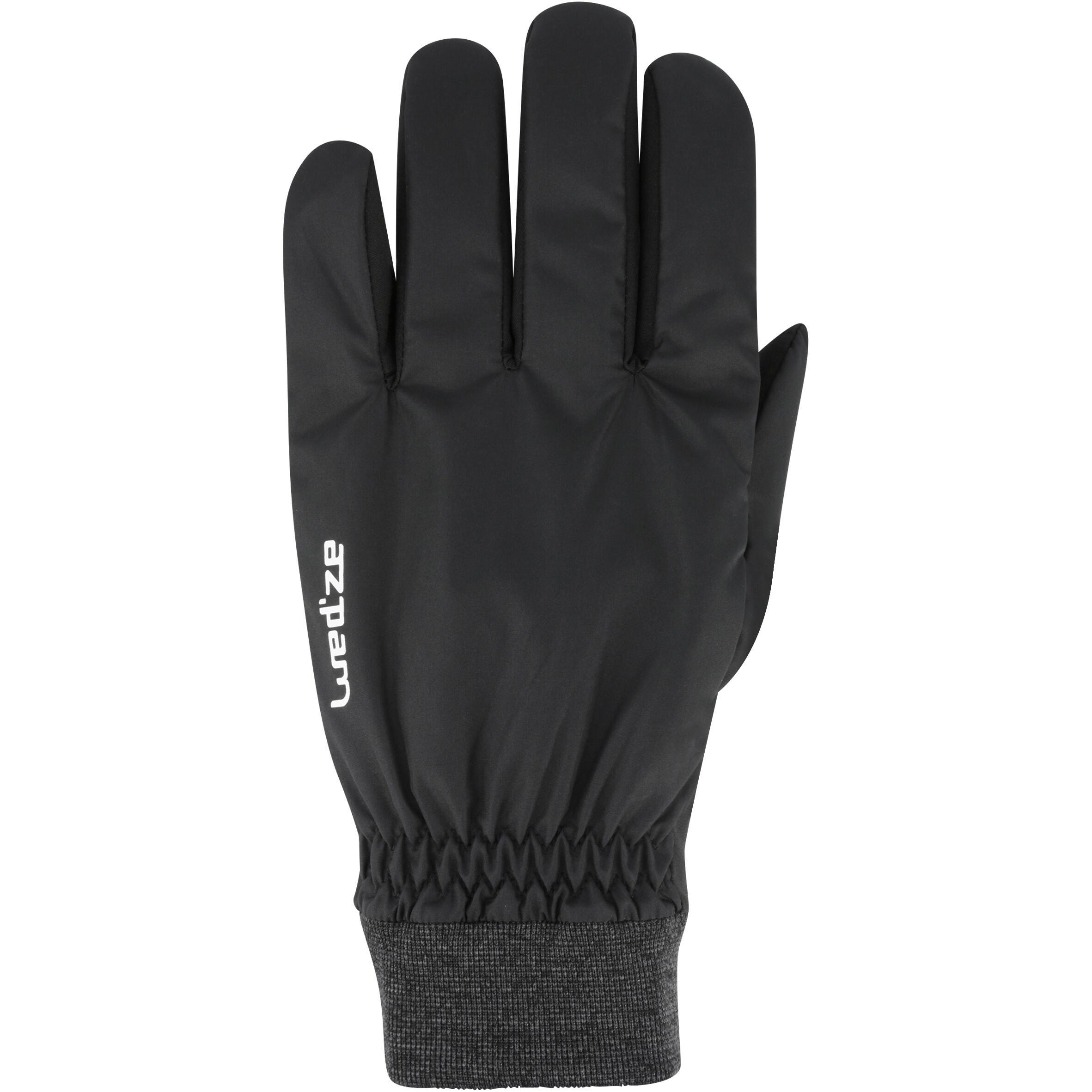 Warm Fit Adult Ski Gloves - Black