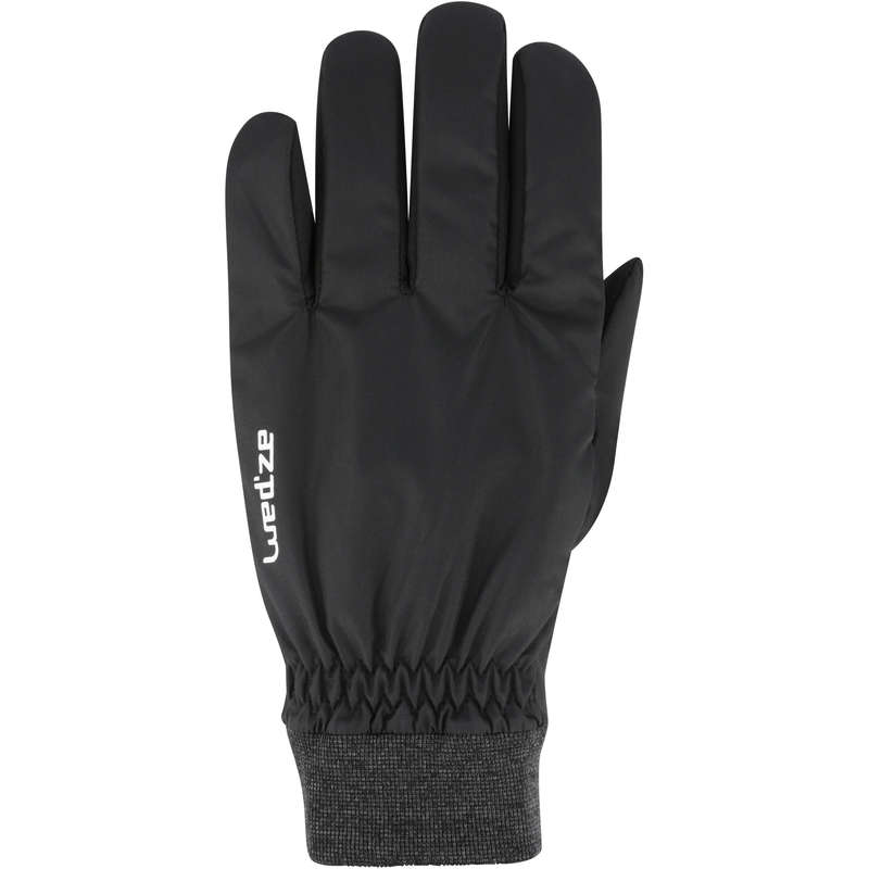 ADULT ON PISTE SKIING GLOVES Skiing - A D-SKI GLOVE WARM FIT - BLACK WEDZE - Ski Wear