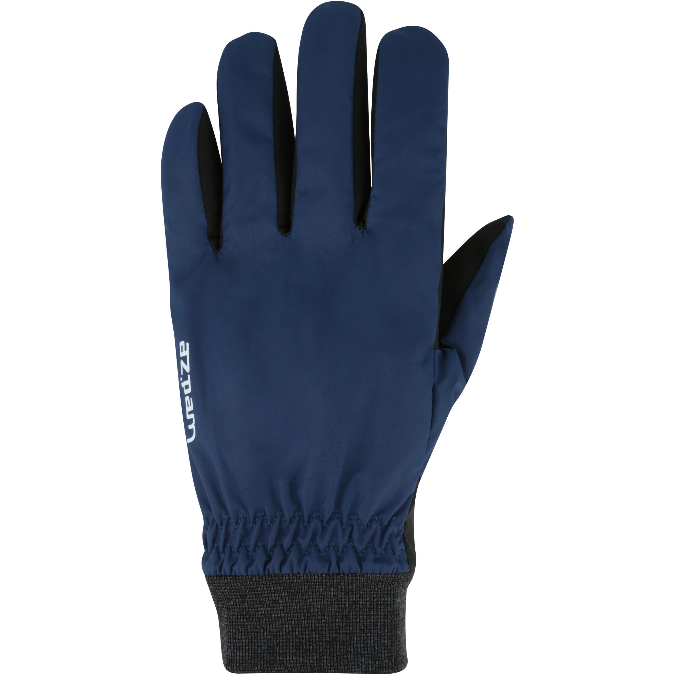 ADULT DOWNHILL SKIING GLOVES WARM FIT BLUE