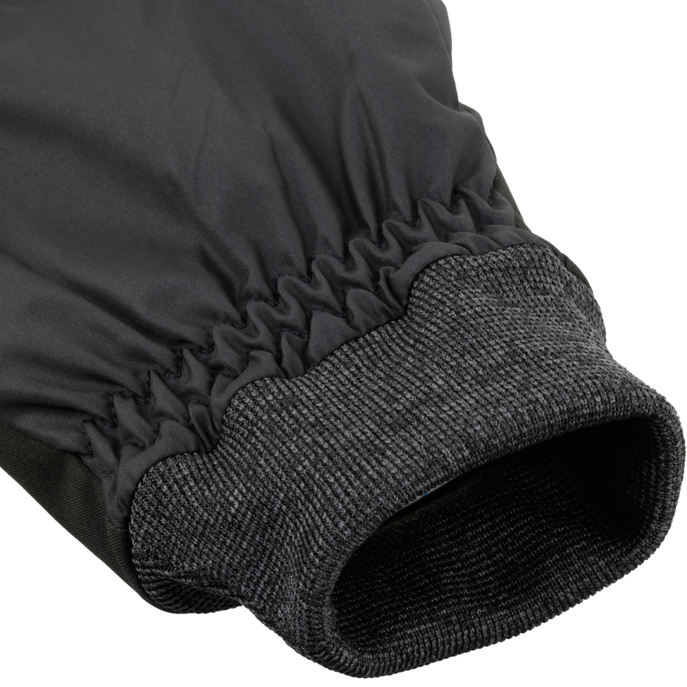WARM FIT ADULT DOWNHILL SKIING GLOVES - BLACK