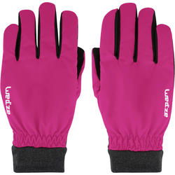 GANTS DE SKI DE PISTE ADULTE WARM FIT ROSES