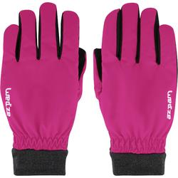 成人下坡滑雪手套WARM FIT - 粉色