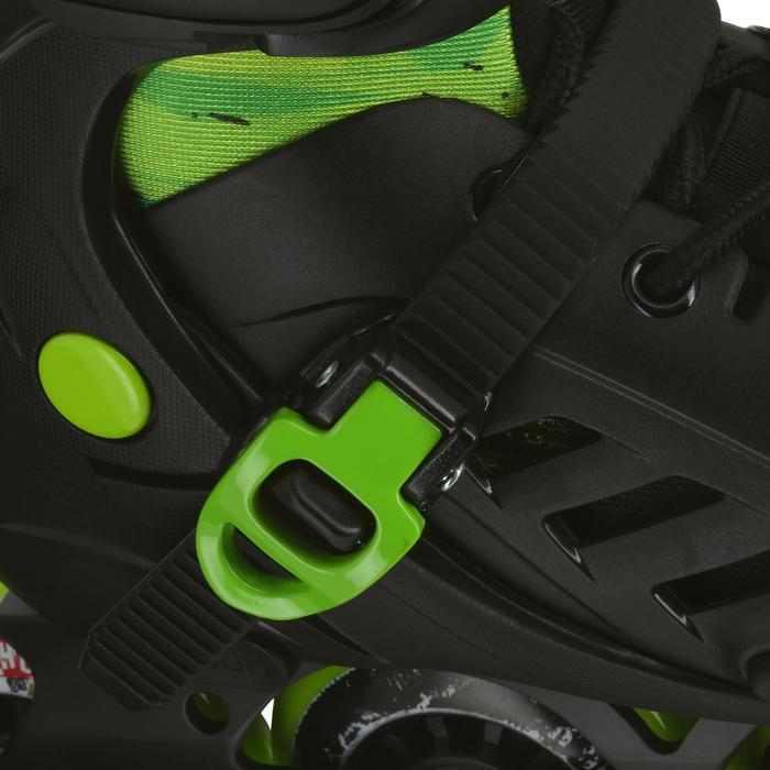 Roller junior freeride KHAAN JUNIOR POWERSLIDE noir vert - 1029134
