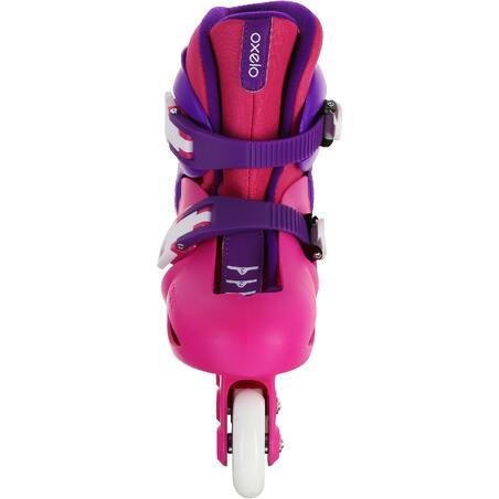 patin pour enfant JEU 3 rose violet