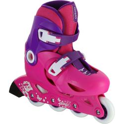 兒童溜冰鞋Play 3 - 粉色/紫色