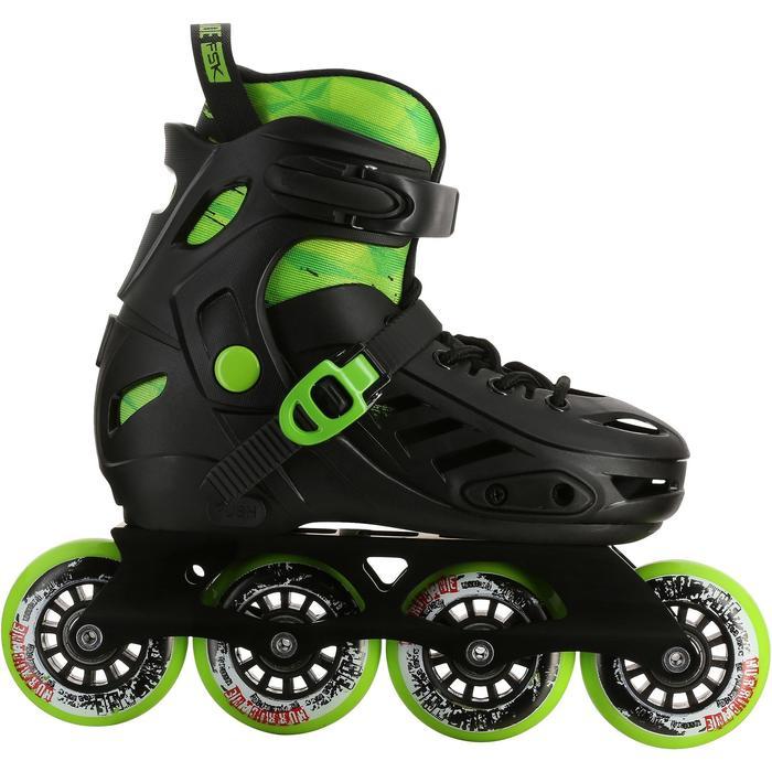 Roller junior freeride KHAAN JUNIOR POWERSLIDE noir vert - 1029157