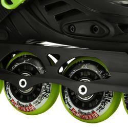 Inline-Skates Freeride Khaan Kinder schwarz/grün
