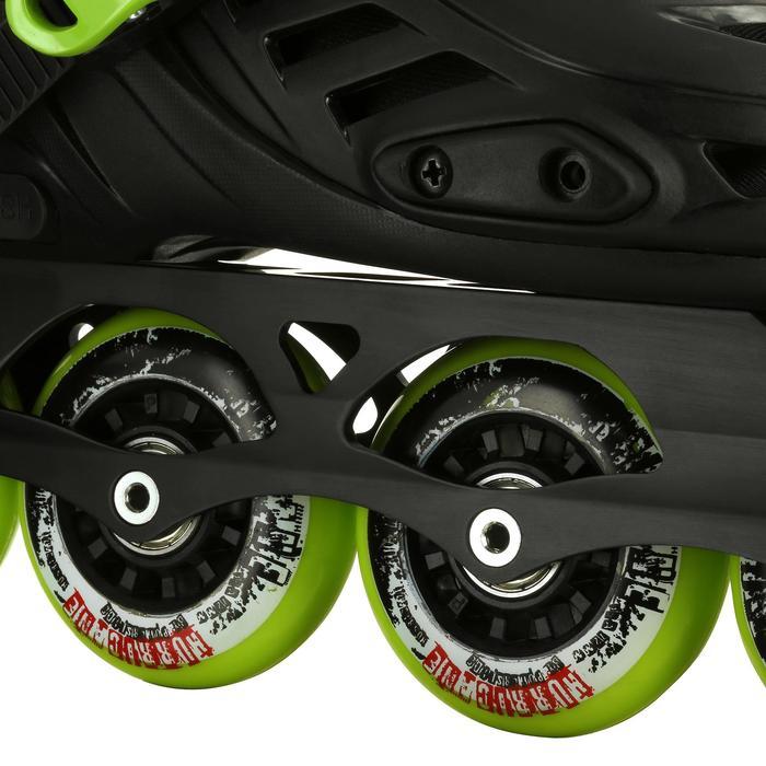 Roller junior freeride KHAAN JUNIOR POWERSLIDE noir vert - 1029160