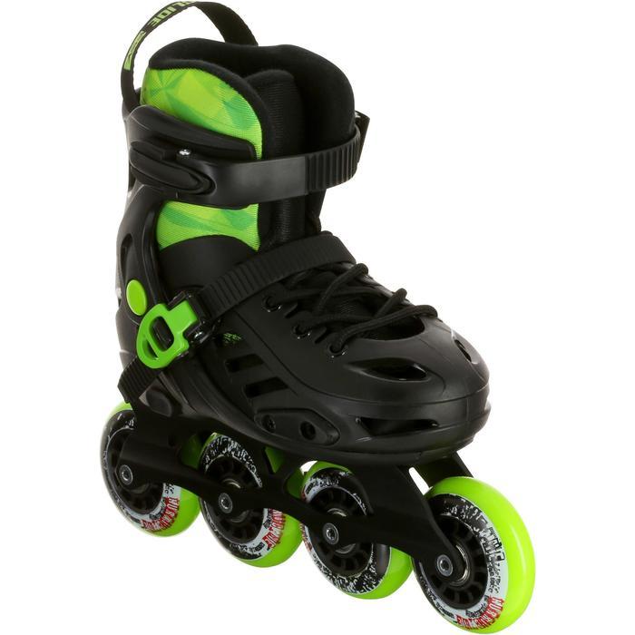 Inline Skates Freeride Khaan Kinder schwarz/grün