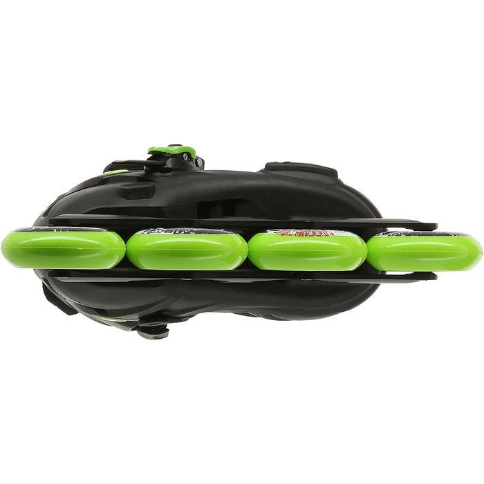 Roller junior freeride KHAAN JUNIOR POWERSLIDE noir vert - 1029170
