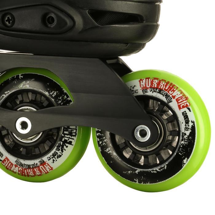 Roller junior freeride KHAAN JUNIOR POWERSLIDE noir vert - 1029194