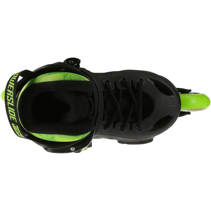 Roller junior freeride KHAAN JUNIOR POWERSLIDE noir vert - 1029209