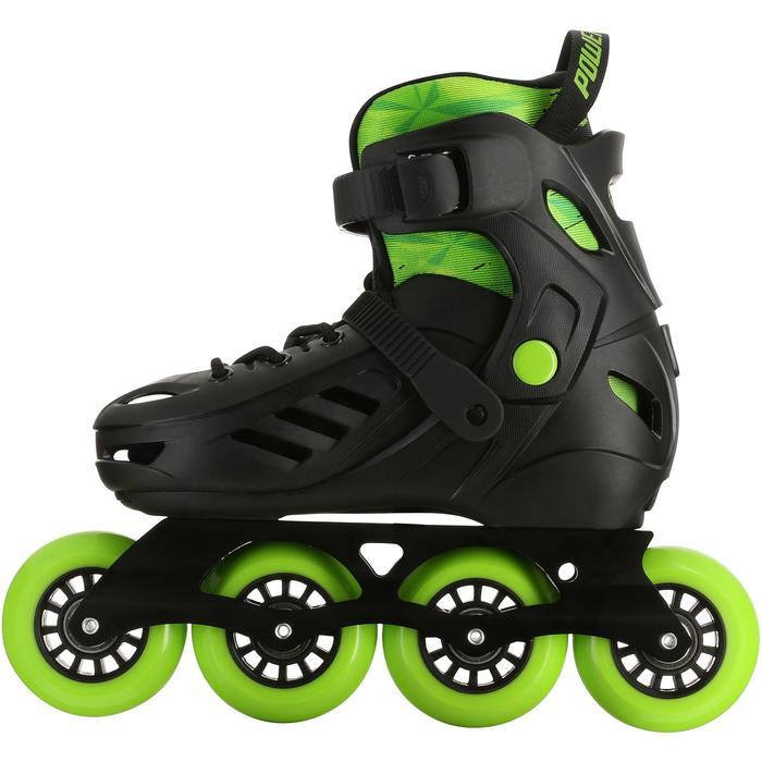 Roller junior freeride KHAAN JUNIOR POWERSLIDE noir vert - 1029210
