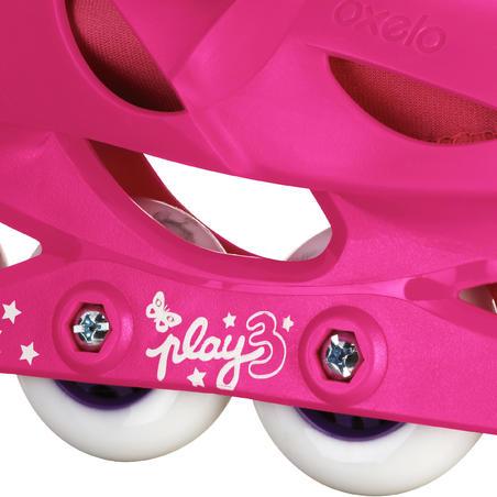 Ružičasti i ljubičasti roleri PLAY 3 za decu