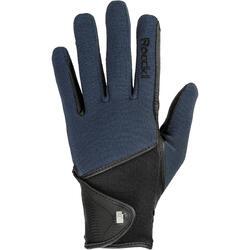 Warme rijhandschoenen Madison voor volwassenen marineblauw